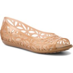 Półbuty CROCS - Sloane Grph Metallic Slide W 205133 Gold/Gold. Różowe półbuty damskie marki Crocs, z materiału. W wyprzedaży za 139,00 zł.