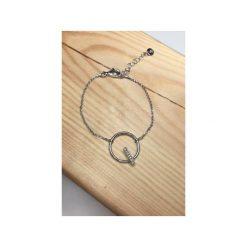 Bransoletki damskie: Srebrna bransoletka koło z cyrkoniami