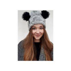 Czapka CHAPOOSIE Crazy Bear Beanie. Szare czapki zimowe damskie Chapoosie, z bawełny. Za 139,00 zł.