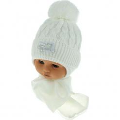 Czapka niemowlęca z szalikiem CZ+S 150B. Szare czapeczki niemowlęce Proman. Za 39,76 zł.