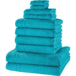 """Bielizna męska: Komplet ręczników """"New Uni""""(10 części) bonprix niebieskozielony morski"""