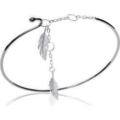 Bransoletki damskie na nogę: Srebrna bransoletka z zawieszką