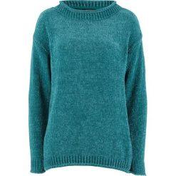 Sweter z szenili bonprix kobaltowy. Niebieskie swetry klasyczne damskie bonprix. Za 37,99 zł.