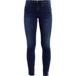 Calvin Klein Jeans MR SKINNY TWISTED AN Jeans Skinny Fit extreme marin. Niebieskie jeansy damskie Calvin Klein Jeans, z bawełny. W wyprzedaży za 384,30 zł.