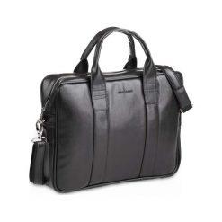 Casual torba męska na ramię laptop czarna. Czarne torby na ramię męskie Brødrene, ze skóry. Za 199,90 zł.