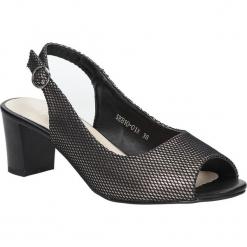 Czarne sandały błyszczące na słupku Sergio Leone SK810-01X. Czarne sandały damskie na słupku marki Sergio Leone. Za 88,99 zł.