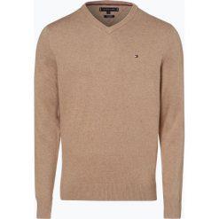 Tommy Hilfiger - Sweter męski z dodatkiem kaszmiru, zielony. Czarne swetry klasyczne męskie marki TOMMY HILFIGER, l, z dzianiny. Za 449,95 zł.