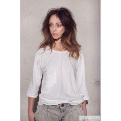 Bluzki, topy, tuniki: Biały tshirt oversize luźna kieszeń