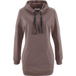 Długa bluza, długi rękaw bonprix brązowy. Brązowe bluzy rozpinane damskie bonprix, z nadrukiem, z długim rękawem, długie. Za 79,99 zł.