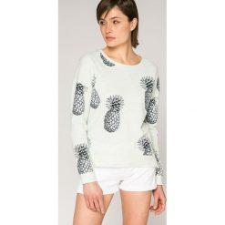 Roxy - Bluza. Białe bluzy damskie marki Roxy, l, z nadrukiem, z materiału. W wyprzedaży za 199,90 zł.