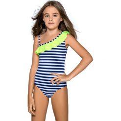 Dziewczęcy kostium kąpielowy Aldene. Różowe stroje jednoczęściowe dziewczęce Astratex, w paski. Za 97,99 zł.