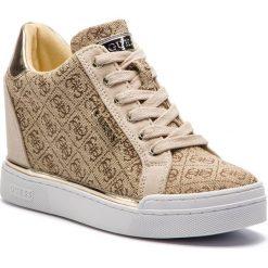 Sneakersy GUESS - FL5FW2 FAL12 BROWN. Brązowe sneakersy damskie Guess, z materiału. Za 549,00 zł.