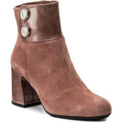 Botki HISPANITAS - Geena HI76007  Rose. Brązowe buty zimowe damskie Hispanitas, z materiału, na obcasie. W wyprzedaży za 399,00 zł.