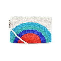 Kopertówki damskie: Kopertówka w kolorze biało-niebiesko-czerwonym – (D)25 x (S)15 cm