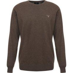 GANT CREW Sweter brown melange. Brązowe swetry klasyczne męskie GANT, m, z bawełny. Za 419,00 zł.