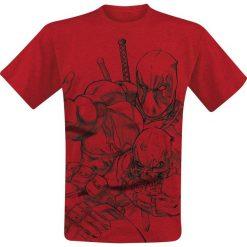 T-shirty męskie: Deadpool Sketch T-Shirt czerwony
