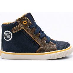 Geox - Trampki dziecięce. Szare buty sportowe chłopięce Geox, z materiału, na sznurówki. W wyprzedaży za 219,90 zł.