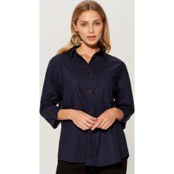 Koszula oversize - Niebieski. Niebieskie koszule wiązane damskie Mohito. Za 119,99 zł.