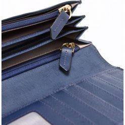 Samsonite - Portfel skórzany. Brązowe portfele damskie Samsonite, z materiału. W wyprzedaży za 259,90 zł.