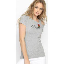 Szary T-shirt Old Flame. Szare bluzki asymetryczne Born2be, l. Za 19,99 zł.