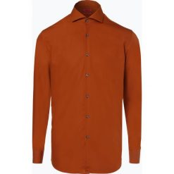 HUGO - Koszula męska łatwa w prasowaniu – C-Jason, pomarańczowy. Brązowe koszule męskie non-iron marki FORCLAZ, m, z materiału, z długim rękawem. Za 299,95 zł.