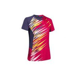 KOSZULKA DRY W RÓŻOWO-ŻÓŁTA. Fioletowe t-shirty damskie ARTENGO. W wyprzedaży za 49,99 zł.