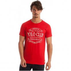 Polo Club C.H..A T-Shirt Męski Xxl Czerwony. Czerwone koszulki polo marki Polo Club C.H..A, m. W wyprzedaży za 119,00 zł.