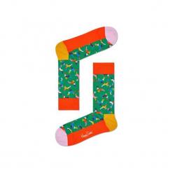 Skarpetki Happy Socks - Holiday XMAS (REI01-7000). Szare skarpetki męskie Happy Socks, w kolorowe wzory, z bawełny. Za 34,90 zł.