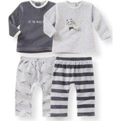 Spodnie niemowlęce: Komplet 2 welurowych piżam dwuczęściowych z certyfikatem Oeko Tex
