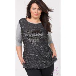 T-shirty damskie: T-shirt z wyrazistym printem Plus