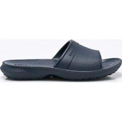 Crocs - Klapki dziecięce. Niebieskie klapki chłopięce marki Crocs, z gumy. W wyprzedaży za 69,90 zł.