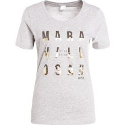 T-shirty damskie: BOSS Orange TAPRINTY Tshirt z nadrukiem silver
