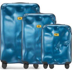 Walizki Icon w zestawie 3 el. niebieski. Niebieskie walizki marki Crash Baggage, z materiału. Za 2628,00 zł.