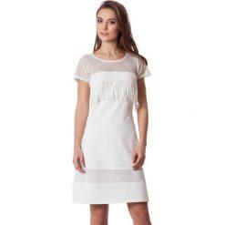 Sukienki hiszpanki: Sukienka w kolorze ecru
