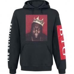 Notorious B.I.G. Biggie Crown Bluza z kapturem czarny. Czarne bluzy męskie rozpinane Notorious B.I.G., xl, z nadrukiem, z kapturem. Za 164,90 zł.