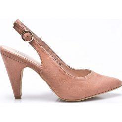 Answear - Czółenka Moow. Różowe buty ślubne damskie ANSWEAR, z materiału, na obcasie. W wyprzedaży za 89,90 zł.