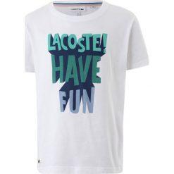 T-shirty chłopięce: Lacoste Tshirt z nadrukiem white