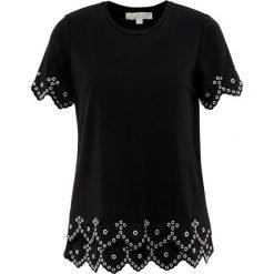 MICHAEL Michael Kors Tshirt z nadrukiem black/silver. Czarne t-shirty damskie MICHAEL Michael Kors, s, z nadrukiem, z elastanu. Za 689,00 zł.