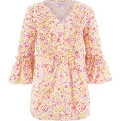 Bluzka z krepy, z kolekcji Maite Kelly bonprix perłowy jasnoróżowy w kwiaty. Czerwone bluzki z odkrytymi ramionami marki bonprix, w kwiaty. Za 59,99 zł.