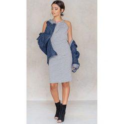 Paski damskie: Rut&Circle Sukienka w paski Aya – Grey,Multicolor
