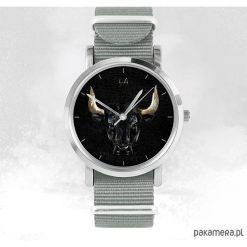 Zegarek - Byk - szary, nato. Szare zegarki męskie marki Pakamera. Za 129,00 zł.