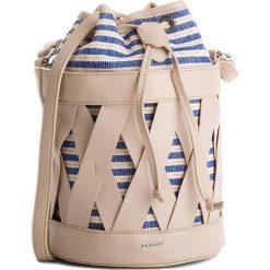 Torebka MONNARI - BAG5430-015 Beige. Brązowe torebki worki Monnari, z materiału. W wyprzedaży za 129,00 zł.