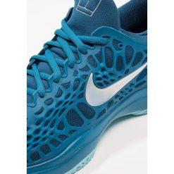Nike Performance AIR ZOOM CAGE 3 HC Obuwie do tenisa Outdoor green abyss/metallic silver/black. Niebieskie buty do tenisa męskie Nike Performance, z gumy. W wyprzedaży za 439,20 zł.
