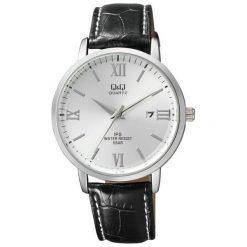 Zegarek Q&Q Męski Klasyczny QZ06-307 z datownikiem czarny. Czarne zegarki męskie Q&Q. Za 148,00 zł.