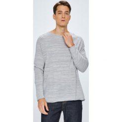 Tommy Jeans - Sweter. Szare swetry klasyczne męskie marki Tommy Jeans, l, z bawełny, z okrągłym kołnierzem. W wyprzedaży za 279,90 zł.