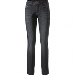 """Dżinsy """"Monroe"""" - Skinny fit - w kolorze antracytowym. Szare jeansy damskie H.I.S. W wyprzedaży za 130,95 zł."""