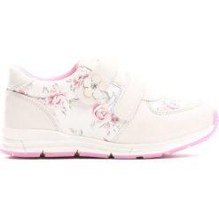 Białe Buty Sportowe Flower Time. Białe buciki niemowlęce chłopięce Born2be, z okrągłym noskiem, na obcasie, na rzepy. Za 69,99 zł.