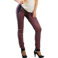 Joggery męskie: Spodnie w kolorze bordowym