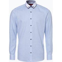 Finshley & Harding - Koszula męska łatwa w prasowaniu, niebieski. Czarne koszule męskie na spinki marki Finshley & Harding, w kratkę. Za 149,95 zł.