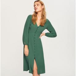 Sukienka midi - Khaki. Brązowe sukienki marki Reserved, l, midi. Za 59,99 zł.